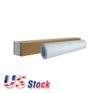 Us Stock 1 Roll 54 X 50yd Roll Glossy Cold Laminating Film Monomeric 3 15 Mil