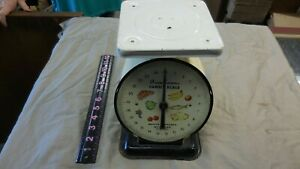 Vintage American Family Scale 25lb Kitchen Counter Utility Food Scale Off White