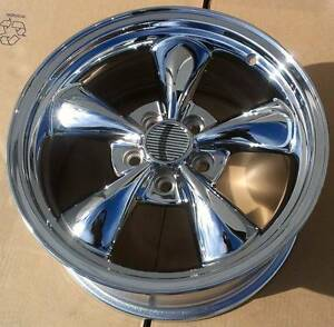 1 17x8 Detroit Bullet Chrome Wheel 5x4 5 Mustang Wheel 30mm