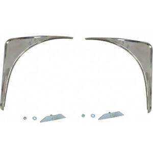 1955 1957 Ford Thunderbird Fender Skirt Stone Guards Stainless Steel With