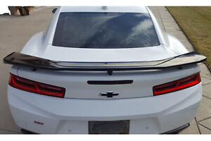 Zl1 Factory Style Abs Plastic Rear Trunk Wing Spoiler For 16 up Camaro All Model