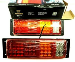 2x 4led Red White Amber Warning Beacon Emergency Light Bars Globetrotter Xl 24v