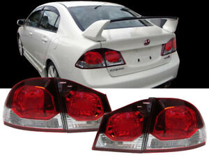 Depo Jdm Type r Euro Conversion Rear Tail Lights For 2006 2011 Honda Civic 4dr