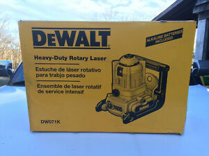 Dewalt Dw071k Rotary Laser Level Manual W case Manual Batteries
