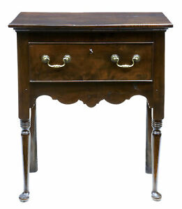 18th Century Antique Small Yew Wood Side Table Dresser