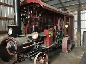 Steam Engine Replica On Wheels Vintage Antique Tractor Show Parade Collectible