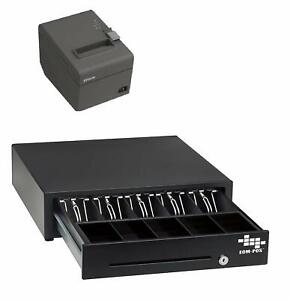 Pos Hardware Bundle For Square Stand Cash Drawer And Thermal Receipt Printer