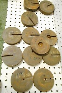 Lot Vintage Steel Scale Weight S