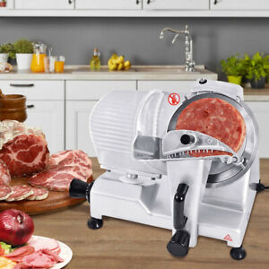 Commercial 9 Inch Blade Meat Slicer Semi Automatic Deli Cheese Food Slicing New