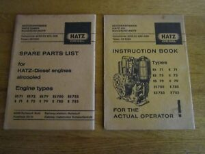 Hatz Diesel Manual Lot 2 Spare Parts List Diesel Engines Air Cooled Instruction