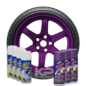 Wheel Kit Plasti Dip 4 White 3 Plum Crazy Classic Muscle Aerosol Spray Cans