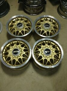 Bbs 14x6 5 Et38 5x114 3 Gold Silver Lip Jdm Wheels Rg Rz