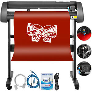 Vinyl Cutter Plotter Cutting 34 Sign Maker Sticker Print Design Making Kit