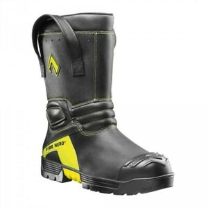 Brand New Haix Fire Hero Xtreme 11 Tall Leather Bunker Boot Mens 11 5 W Nfpa