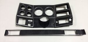 81 83 Chevy Gmc New Pickup Truck Dash Bezel Gauge Cluster Cover Black W Silver