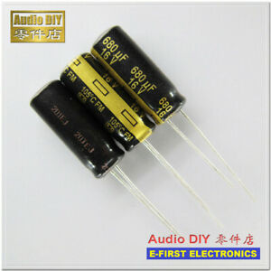 20pcs Panasonic Fm Series 680uf 16v 680uf Electrolytic Capacitor 8x20mm