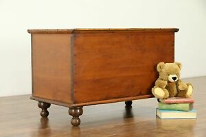 Country Pine Antique 6 Board Blanket Chest Or Trunk Ohio 31018