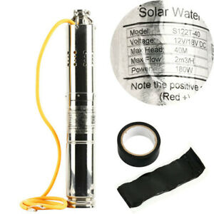 12v 180w Deep Well Submersible Pump Stainless Deep Well Pump For Industrial Home