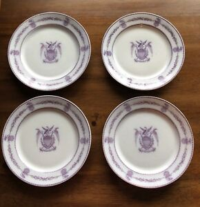 4 1850 S 60 S French Staffordshire Pearlware Patriotic American Eagle Plate