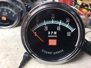 6k Nos Stewart Warner Vintage Tachometer With 8 Cyl Sending Unit W New Cup