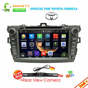 8 Android 7 1 Car Radio Gps Dvd Stereo Wifi 4g Bt For Toyota Corolla 2007 2012
