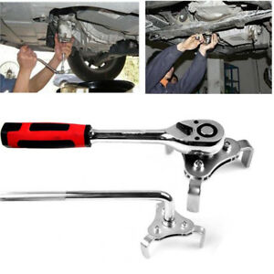 Adjustable 3 Jaw Oil Filter Wrench Universal Auto Motorcycle Triangle Remover