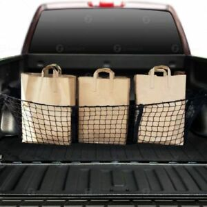 3 Pocket Cargo Net Trunk Suv Pickup Truck Bed Storage Organizer Car Grocery Keep