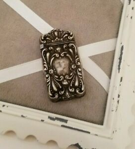 Antique Sterling Silver Match Safe Vesta Toothpick Holder Qg4142