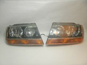 Jeep Grand Cherokee Wj 99 04 Headlight Pair Head Lights Set Free Shipping