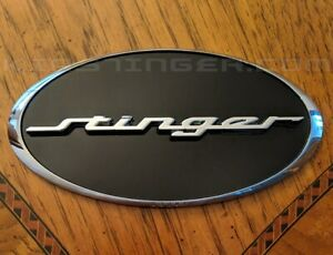 Oval Stinger Emblem Front And or Rear Heavy Duty For Kia Stinger 2018