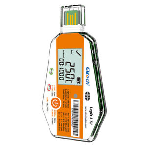 Elitech Loget 1 Th Temperature Humidity Data Logger Single Use Pdf Report Usb