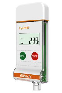 Elitech Loget 8 Te Temperature Data Logger Reusable Pdf Report Usb Port