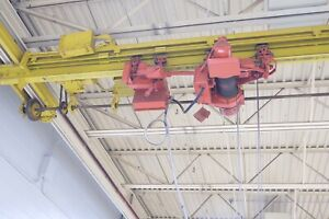 Dual 2 Ton Overhead Crane And Bridge 44