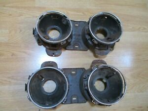 1964 Ford Galaxie 500 Headlight Buckets And Trim Rings