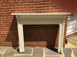 Antique Fireplace Mantle Surround Clean Lines Beautiful Solid Wood