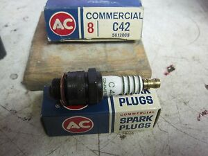 1958 59 Corvette High Speed Operating Spark Plugs Box Of 8 N O S