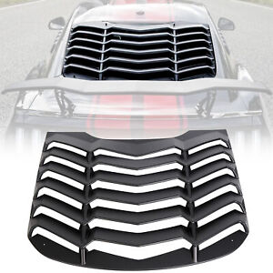Abs Rear Window Louver Cover Sun Shade Vent For 15 20 Ford Mustang