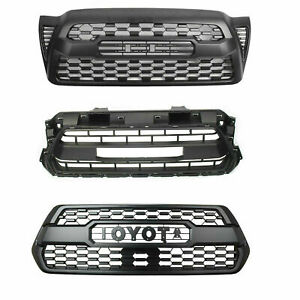 Abs Plastic Front Bumper Grill Fit For Tacoma Trd Pro Grille 2005 2017 W Logo