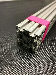 Lot Of 4 80 20 T slot Extruded Aluminum 1 x 1 X 31 5 Anodized 10 10