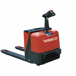 Wesco 174 Deluxe Self propelled Electric Power Pallet Truck 4400 Lb Lot Of