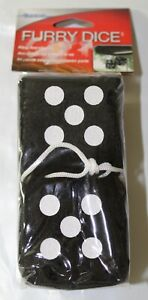 Alpena Novelty Auto Mirror Hanging Dice Pack Of 5 Black White