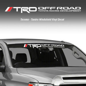 Trd Off Road Windshield Tacoma Tundra Toyota Vinyl Decal Truck Sticker Graphic Q