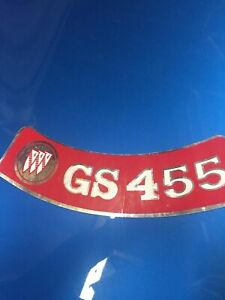 1970 1975 Buick Gs Gm 455 Embossed Air Cleaner Decal