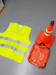 10x 18 Collapsible Led Traffic Safety Parking Pop Cones Reflective Vest