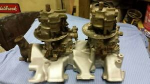 Ford Intake W Carbs y 239 312 Block 2 X 4 s