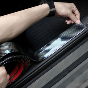 3cm 1m Car Carbon Fiber Rubber Edge Guard Strip Door Sill Protector Accessories