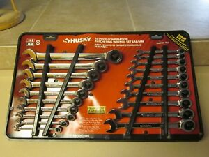 Husky 20 piece Combination Ratcheting Werench Set Sae Mm brand New Unused