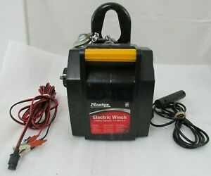 Master Lock Winch Electric Portable 2000 Lb 12v D C W Hand Held Remote Switch