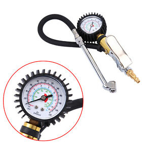 Dual Head Tire Inflator With Dial Gauge Air Chuck Truck 0 220psi For Duty Car