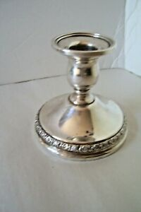 International Sterling Silver Prelude Single Candle Holder Candlestick